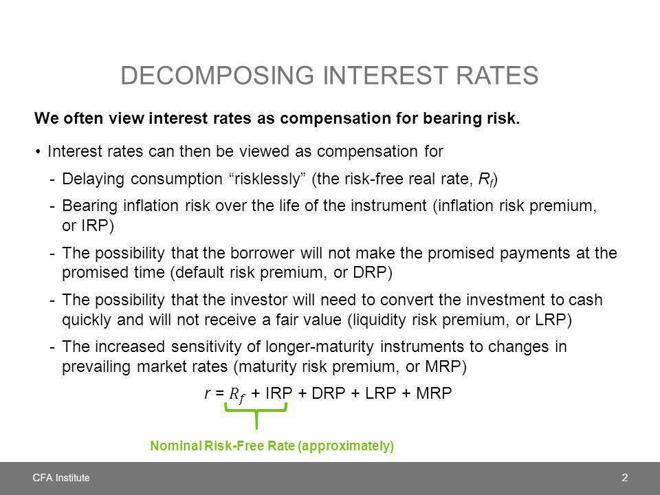 Decomposing Interest Rates