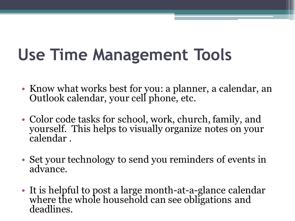 Use Time Management Tools