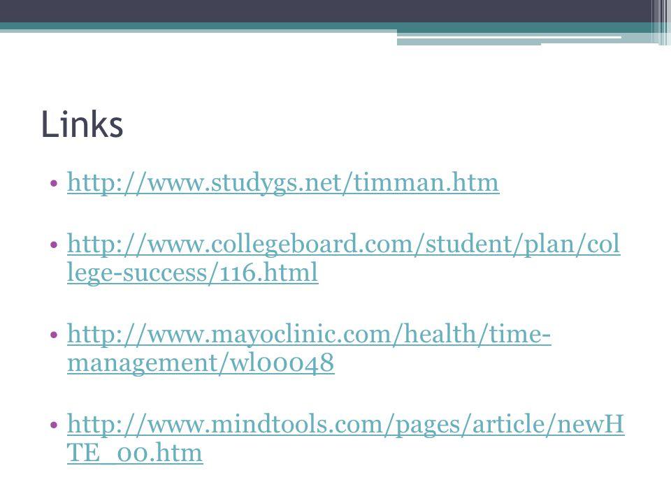 Links http://www.studygs.net/timman.htm