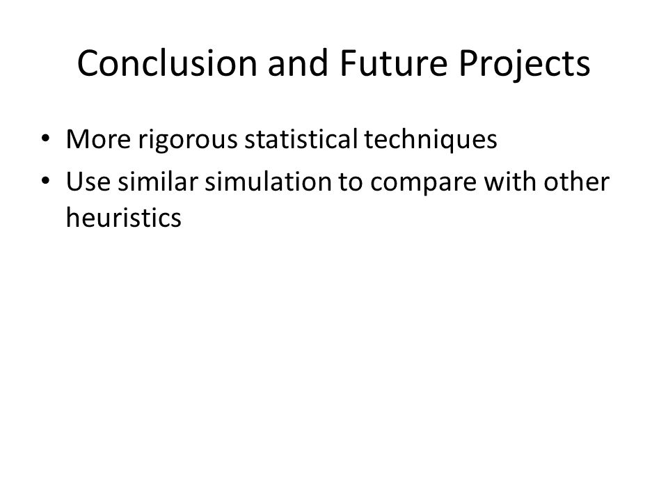 Conclusion and Future Projects