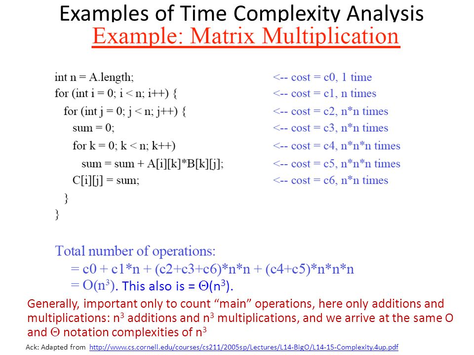 Examples of Time Complexity Analysis