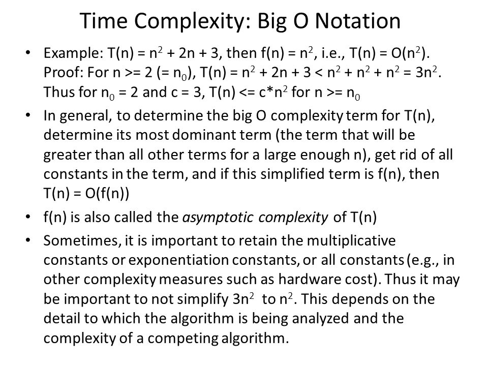 Time Complexity: Big O Notation