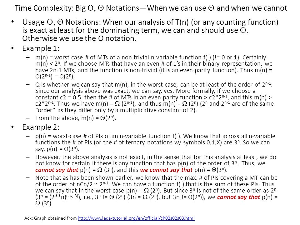 Time Complexity: Big O, Q Notations—When we can use Q and when we cannot