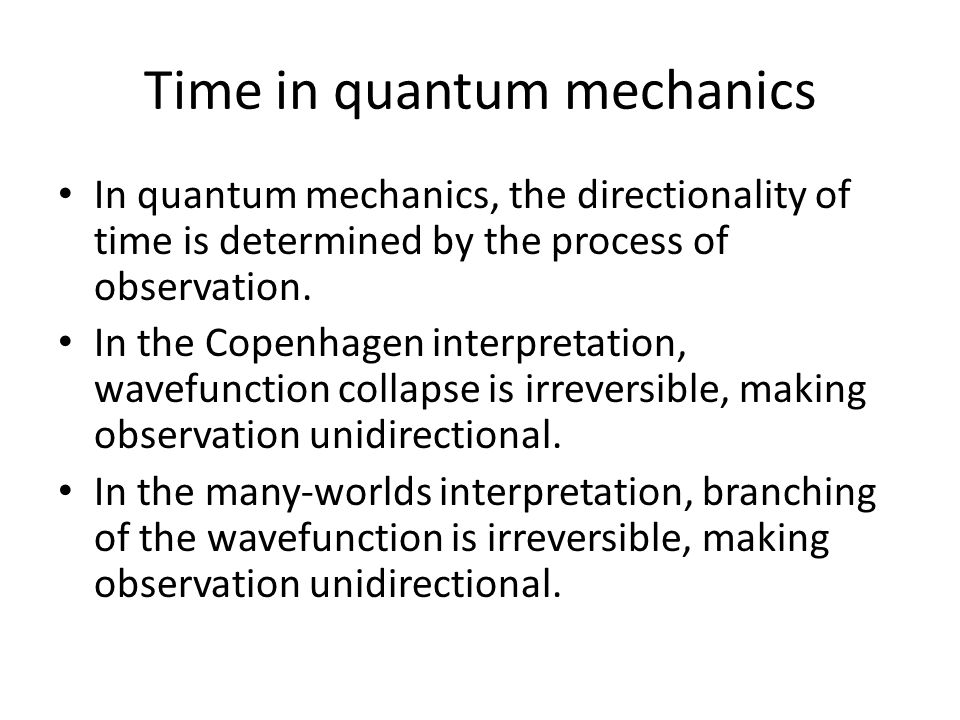 Time in quantum mechanics