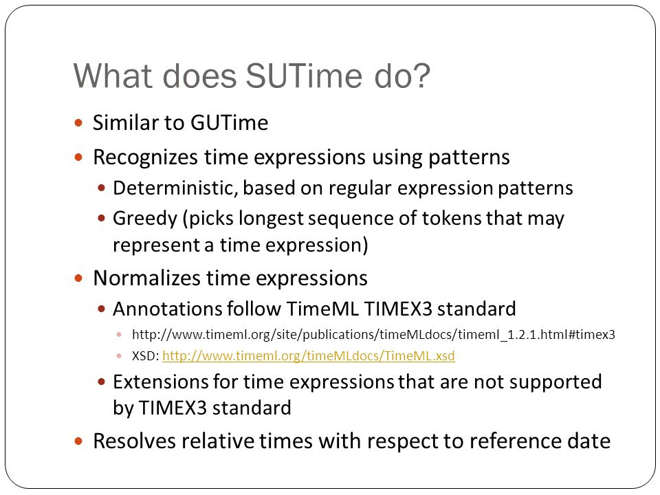 What does SUTime do Similar to GUTime