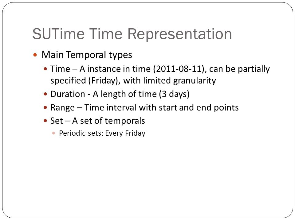 SUTime Time Representation