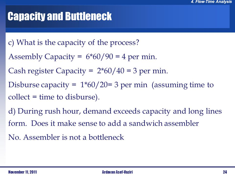 Capacity and Buttleneck