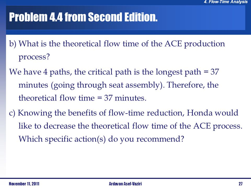 Problem 4.4 from Second Edition.