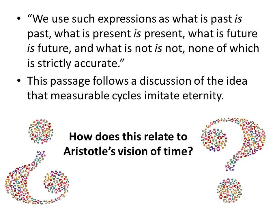 Aristotle's vision of time