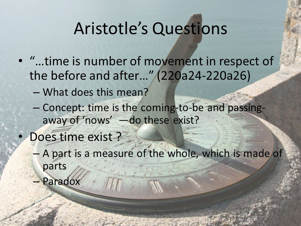 Aristotle's Questions