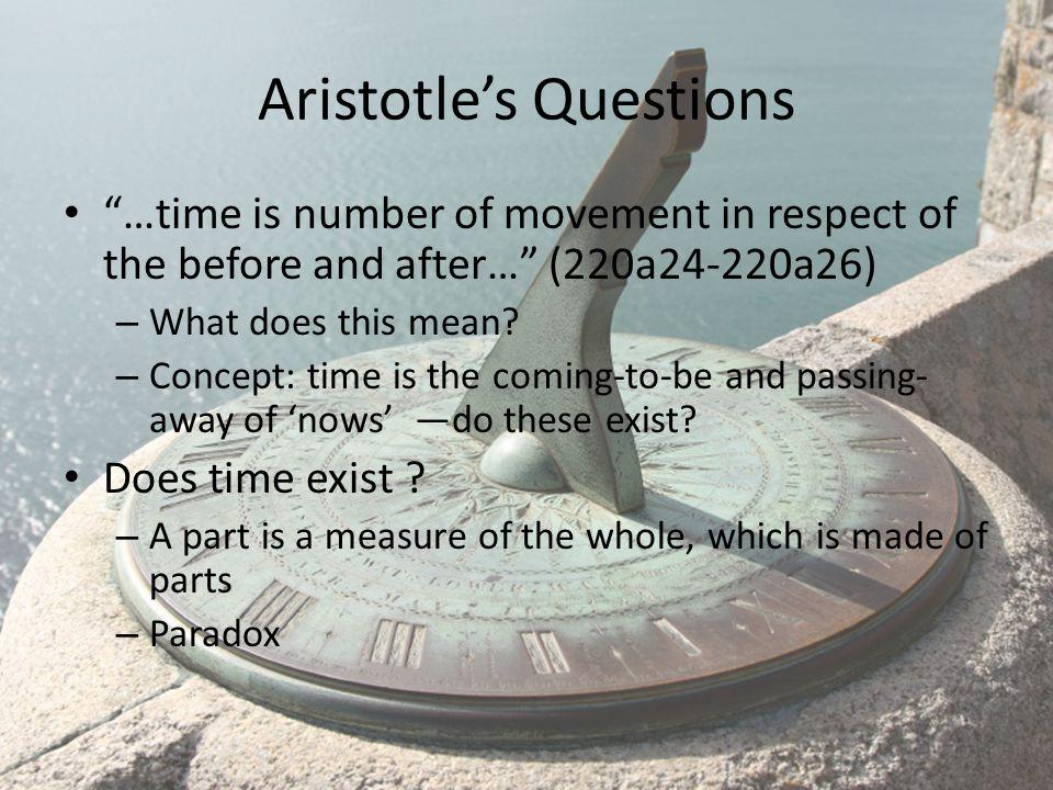 Aristotle's Questions