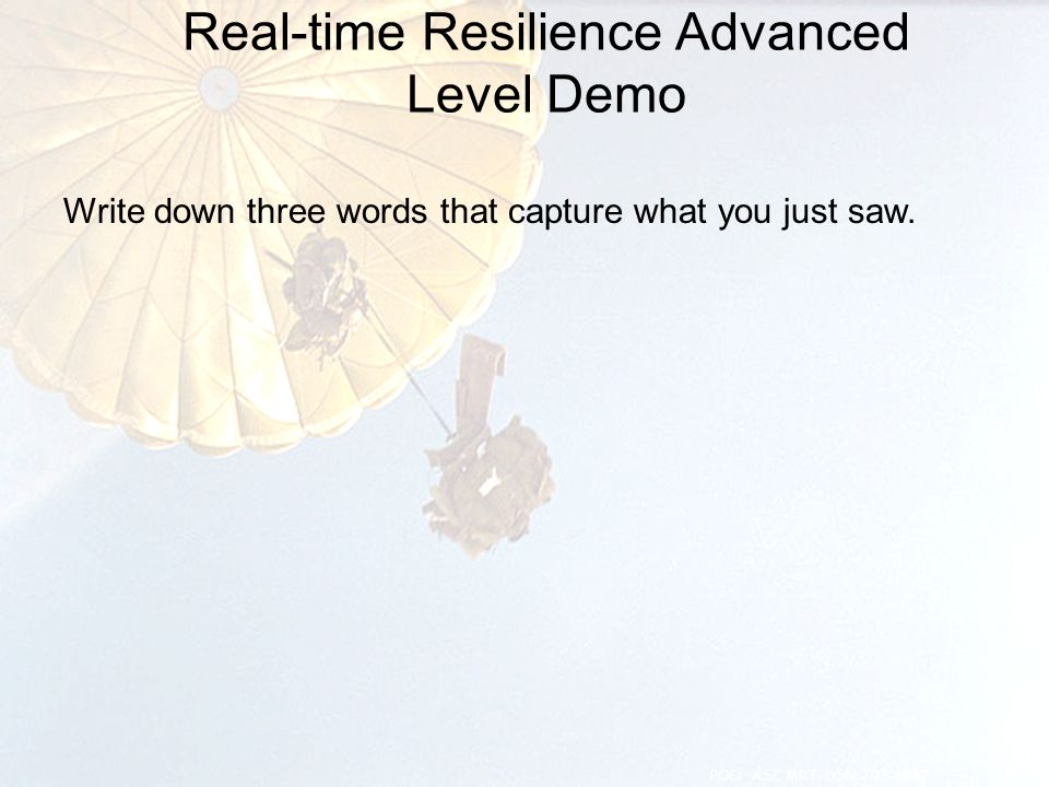 Real-time Resilience Advanced Level Demo