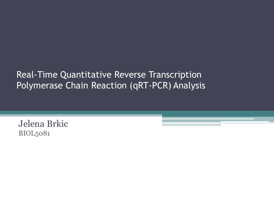 Real-Time Quantitative Reverse Transcription Polymerase Chain Reaction (qRT-PCR) Analysis