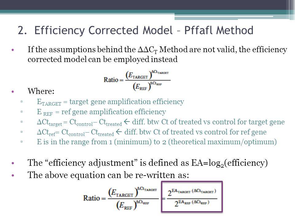 Efficiency Corrected Model – Pffafl Method
