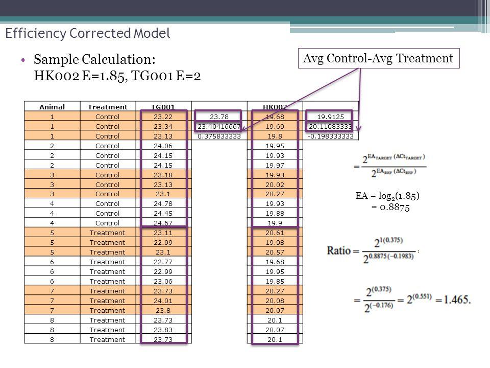 Efficiency Corrected Model