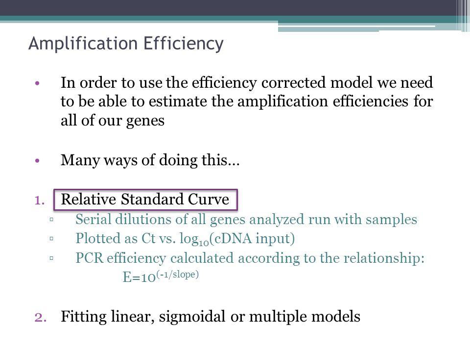 Amplification Efficiency