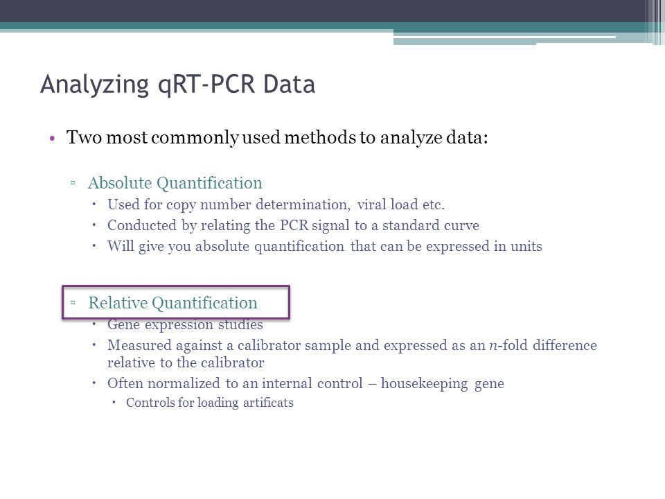 Analyzing qRT-PCR Data