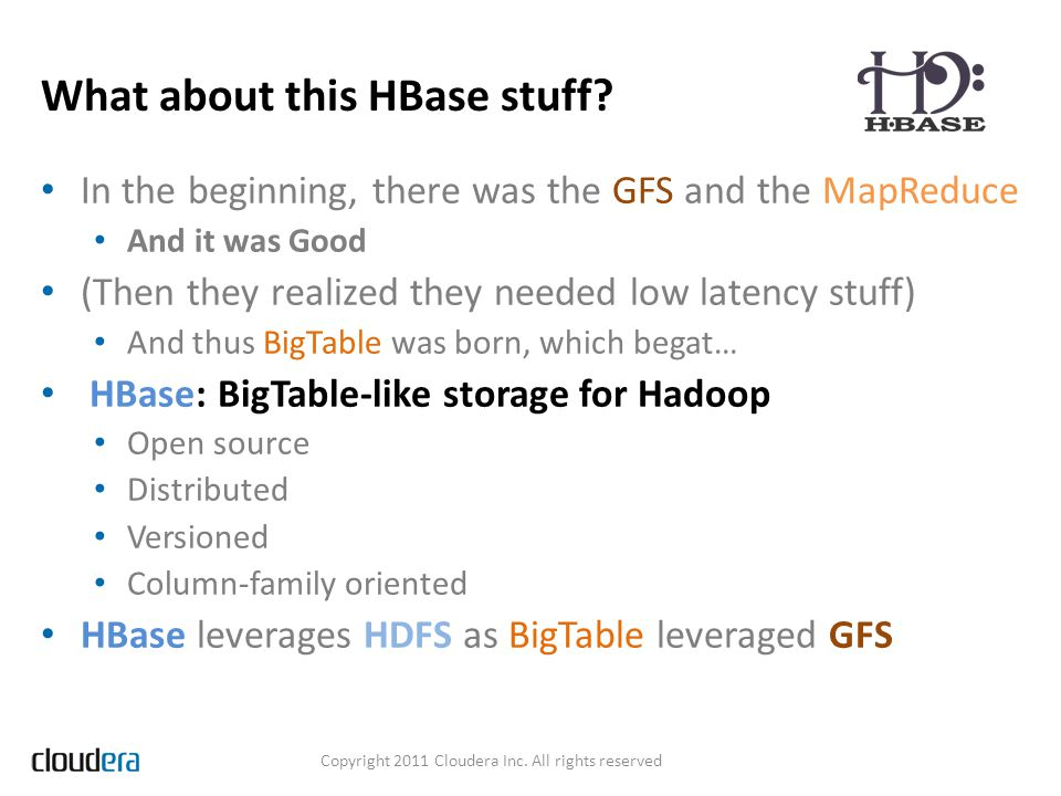 What about this HBase stuff