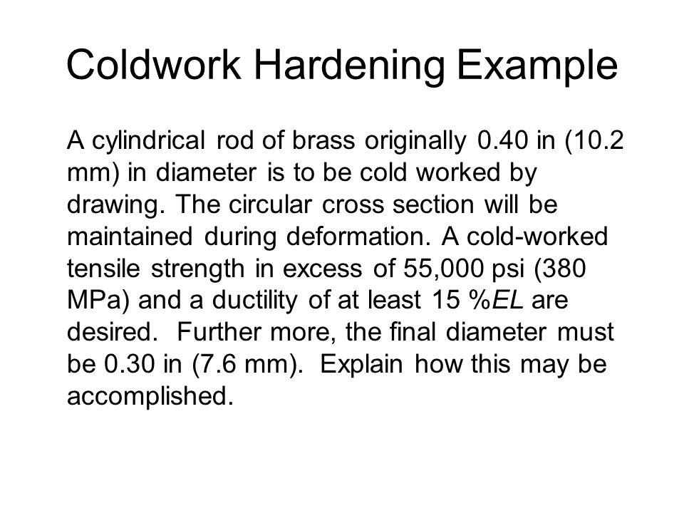 Coldwork Hardening Example