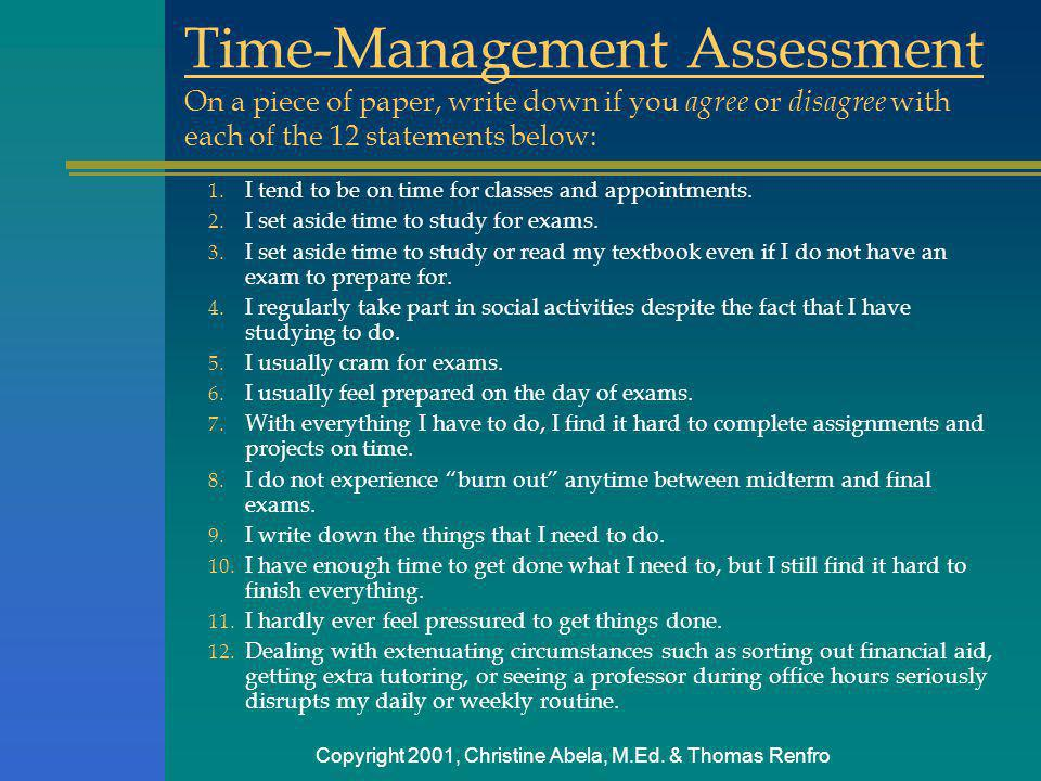 Time-Management Assessment