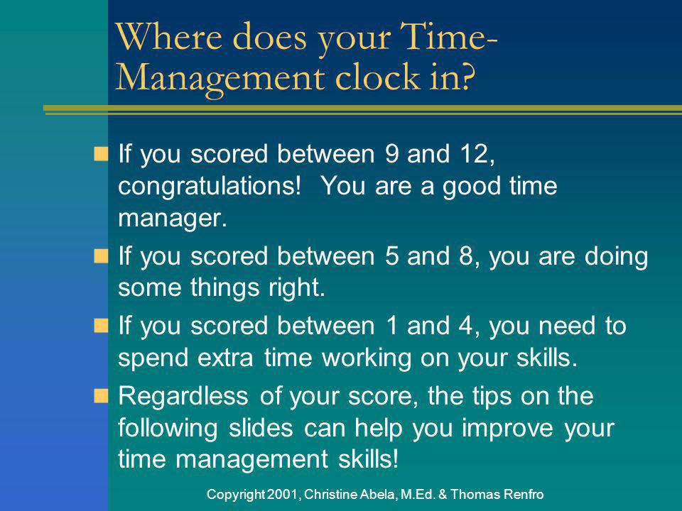 Where does your Time-Management clock in