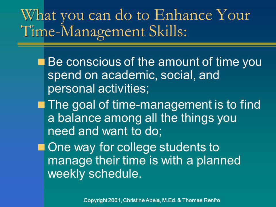 What you can do to Enhance Your Time-Management Skills: