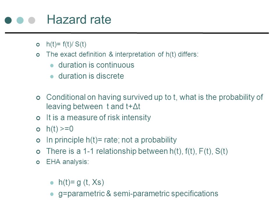 Hazard rate duration is continuous duration is discrete