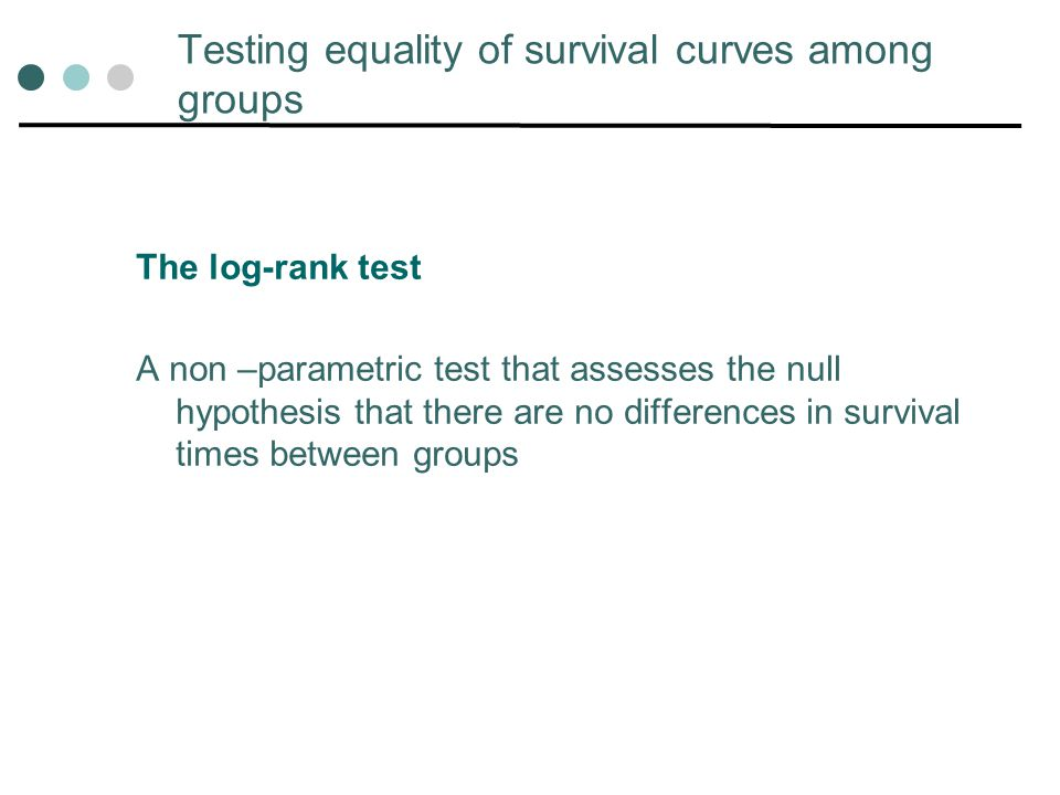 Testing equality of survival curves among groups