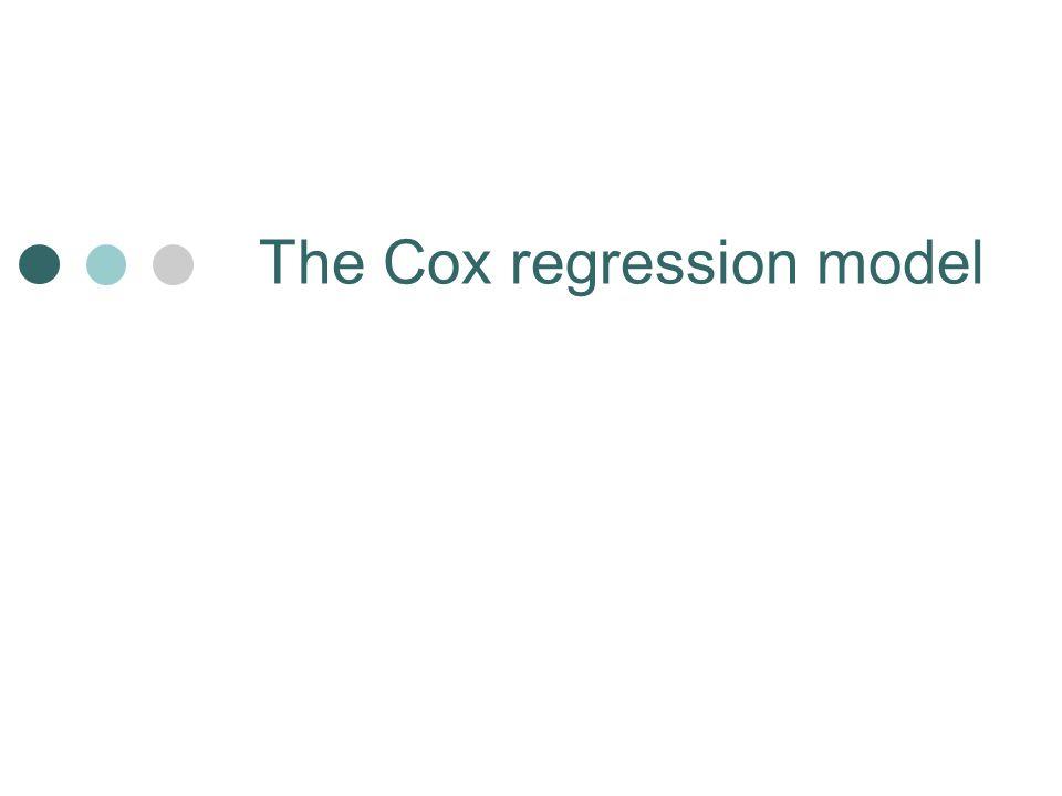 The Cox regression model