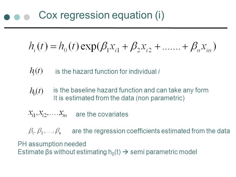 Cox regression equation (i)