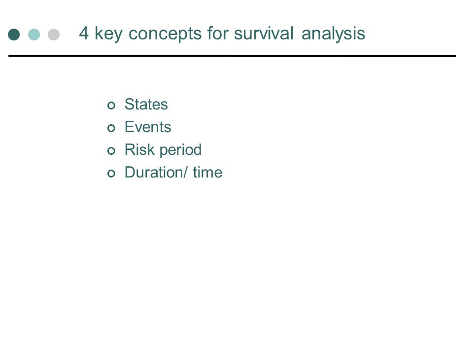 4 key concepts for survival analysis