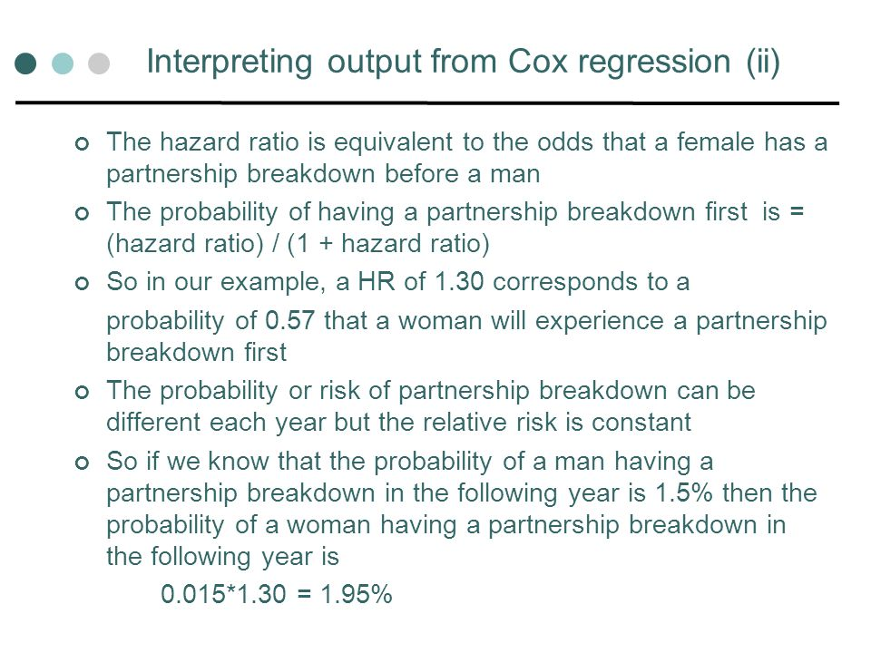 Interpreting output from Cox regression (ii)