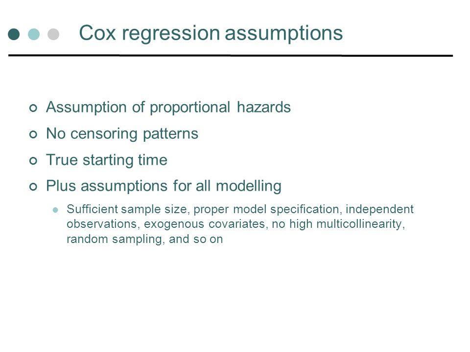 Cox regression assumptions