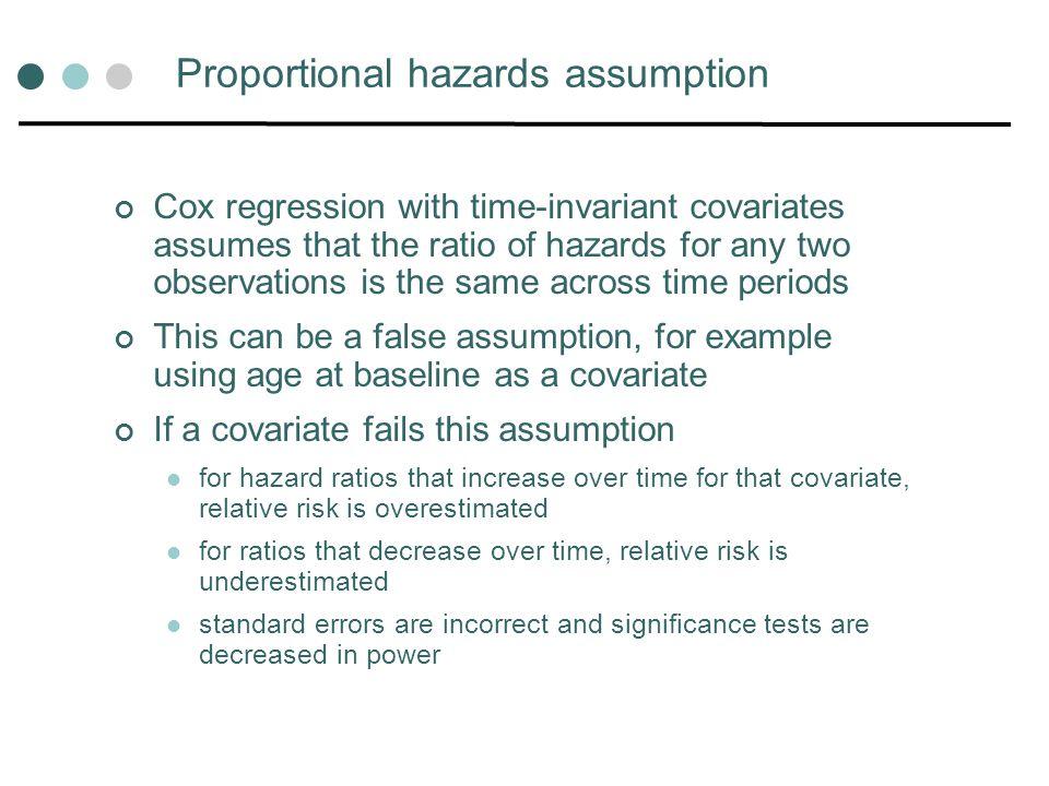 Proportional hazards assumption