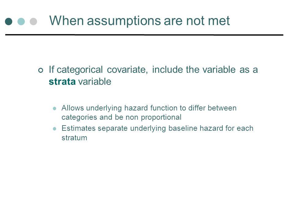 When assumptions are not met