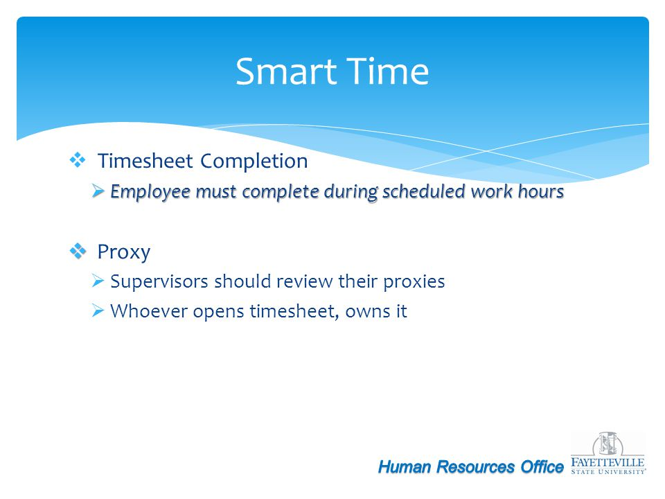 Smart Time Timesheet Completion Proxy