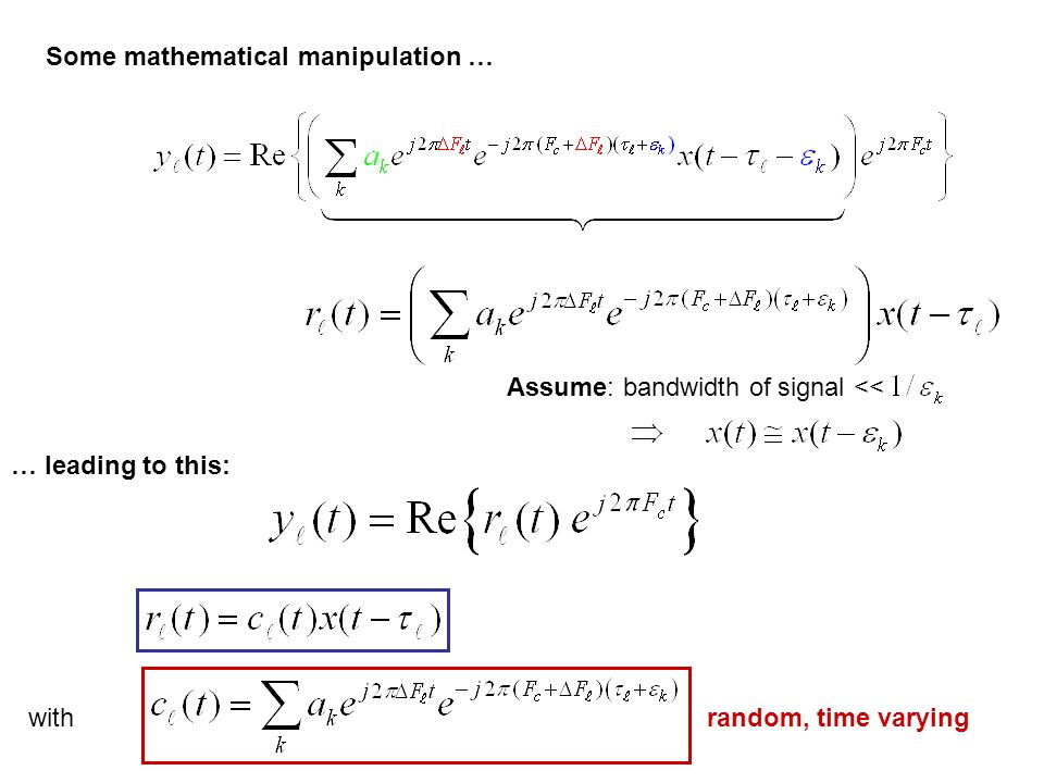Some mathematical manipulation …