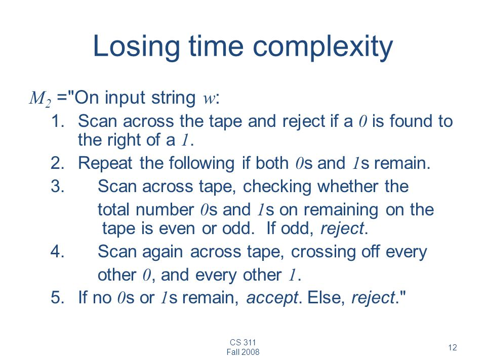 Losing time complexity