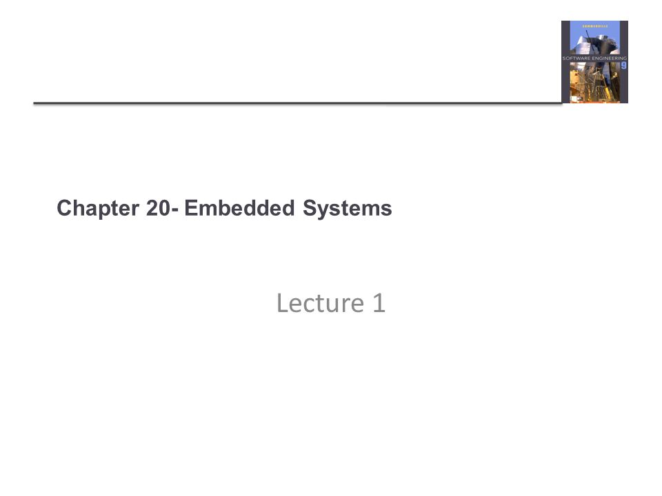 Chapter 20- Embedded Systems