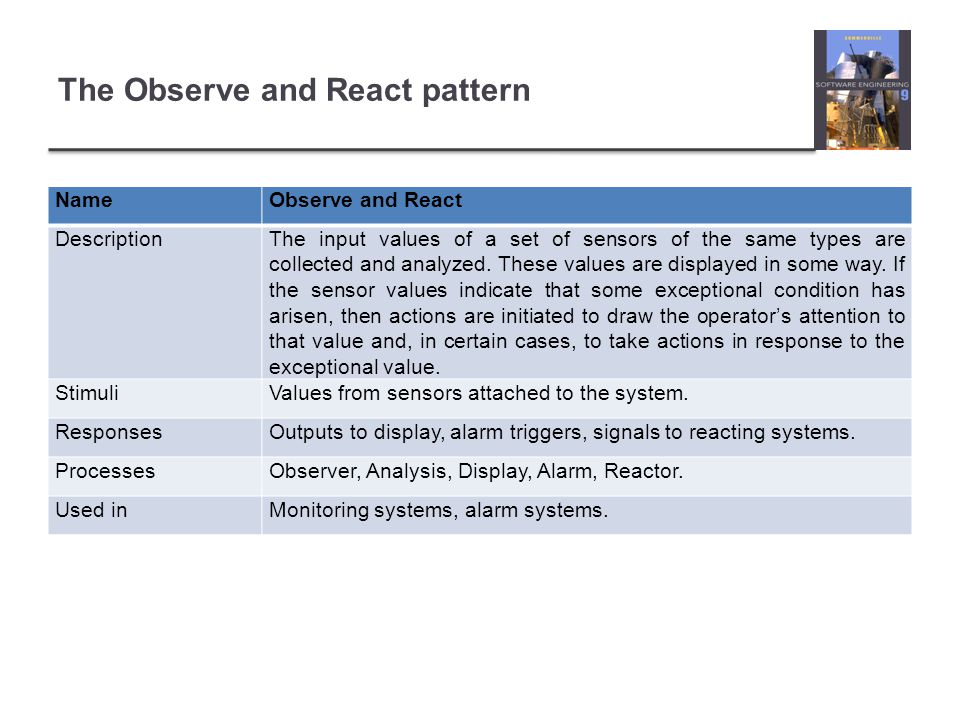 The Observe and React pattern