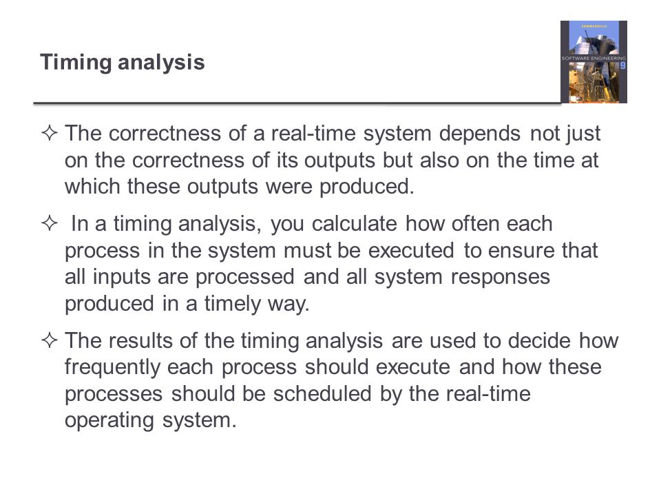 Timing analysis