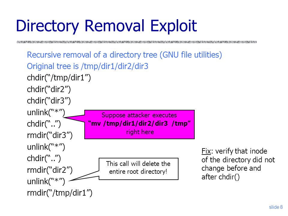 Directory Removal Exploit