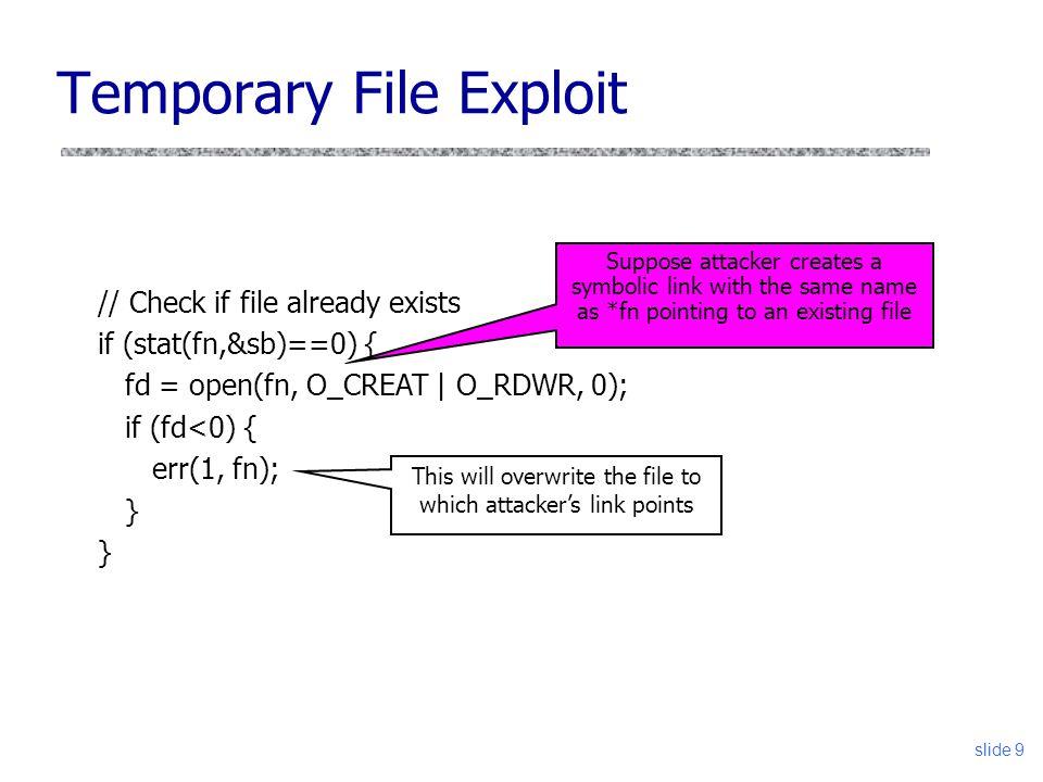 Temporary File Exploit