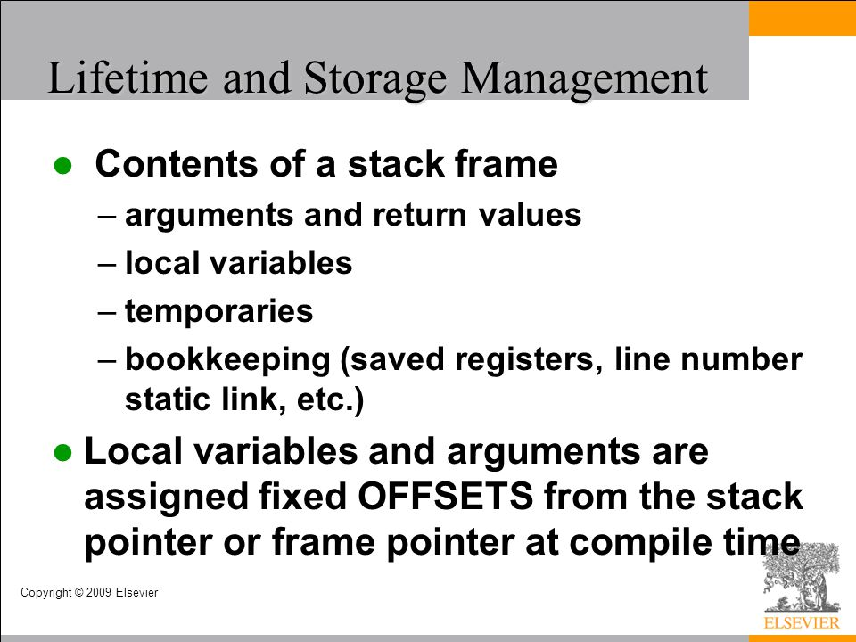 Lifetime and Storage Management