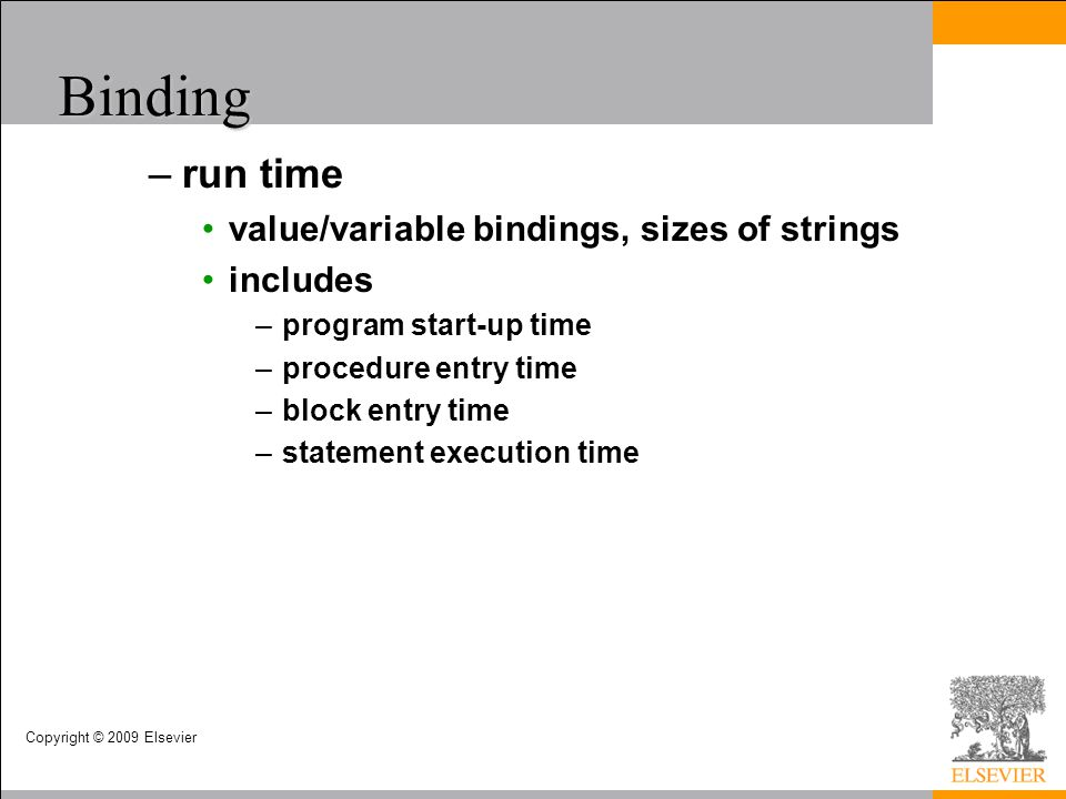Binding run time value/variable bindings, sizes of strings includes