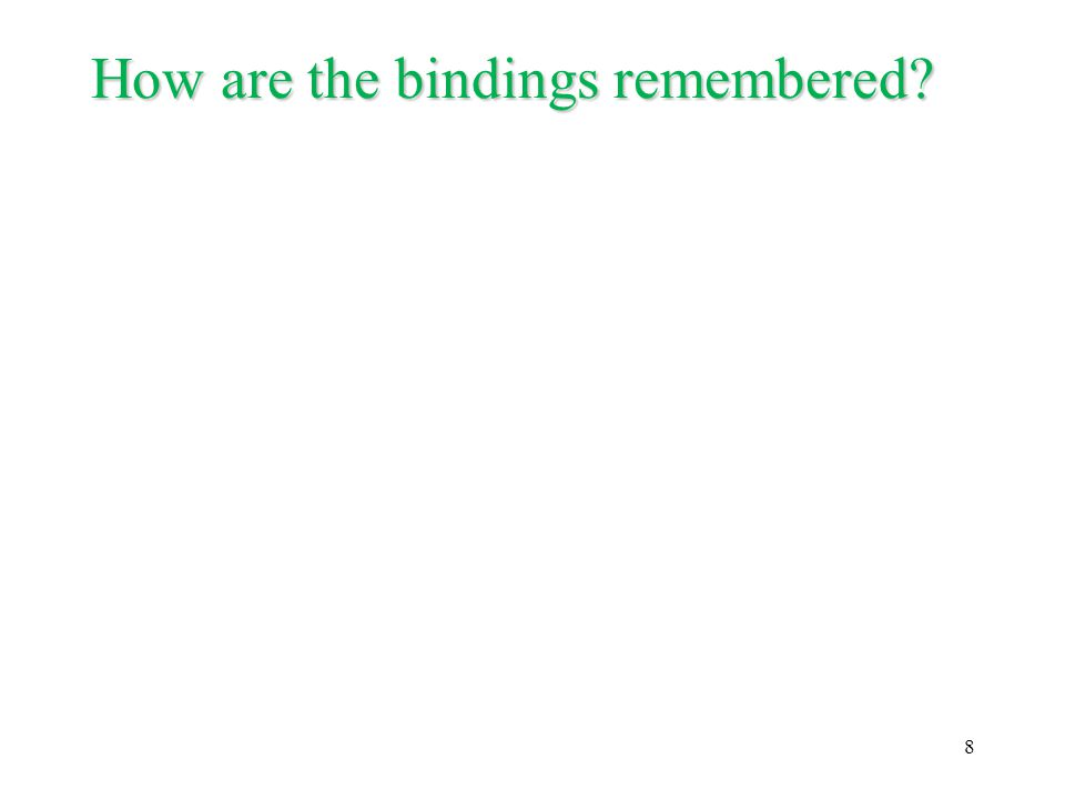 How are the bindings remembered