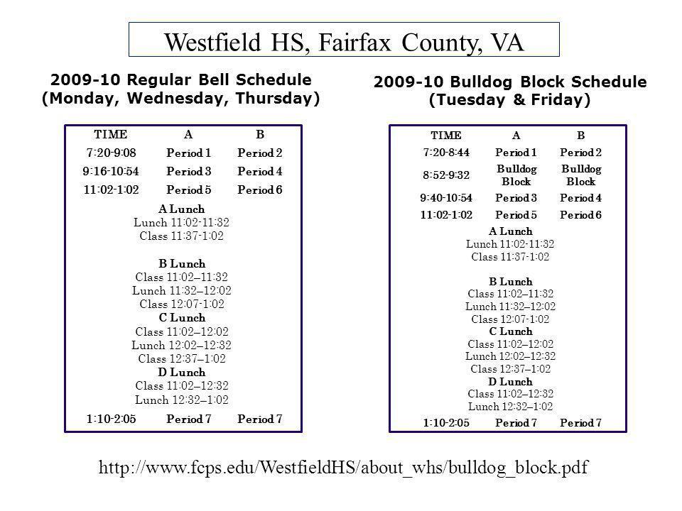 Westfield HS, Fairfax County, VA