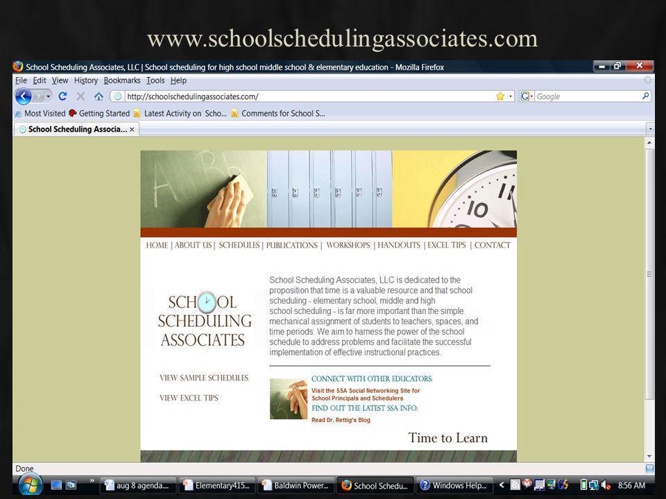 Designing Quality Elementary School Master Schedules