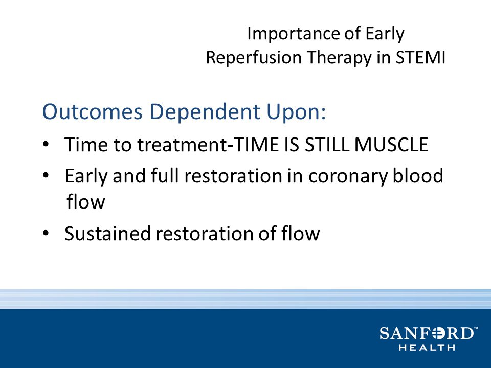 Importance of Early Reperfusion Therapy in STEMI