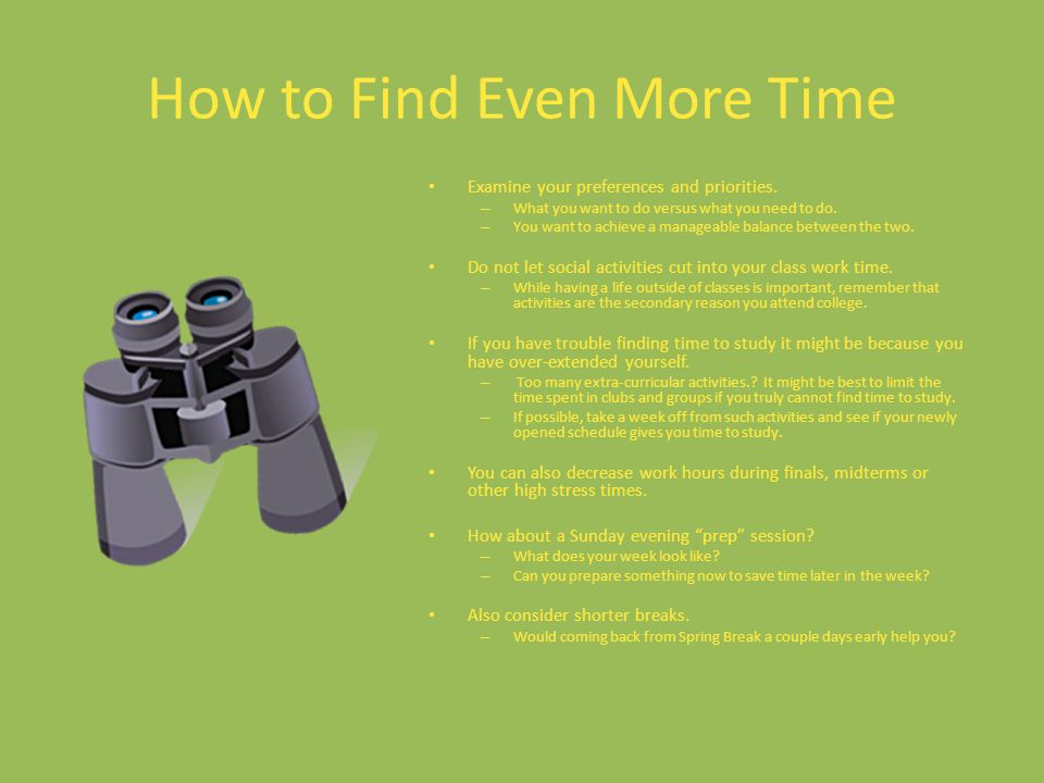 How to Find Even More Time